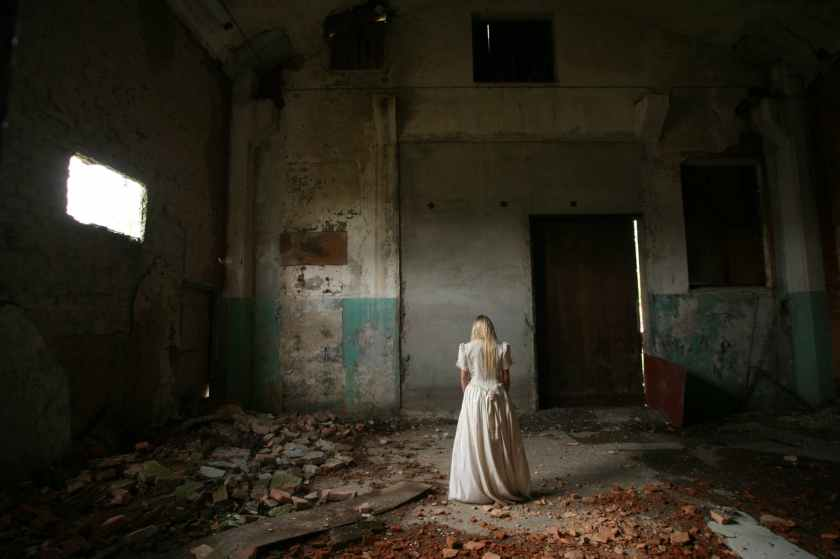 abandoned alone blond building